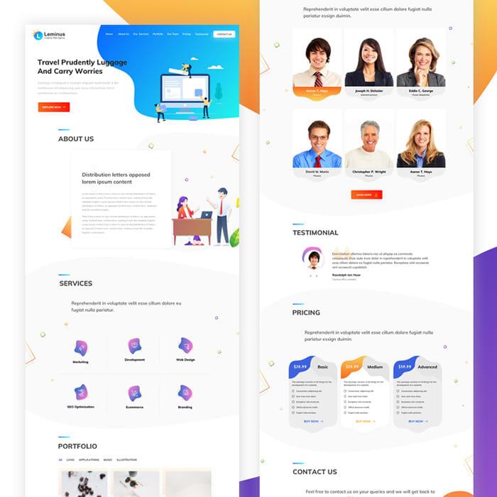 Leminus Web Agency Sketch Template