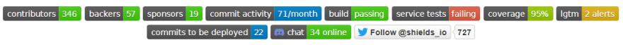 Badge/shields GitHub