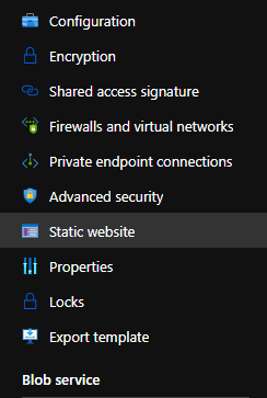 Azure static website