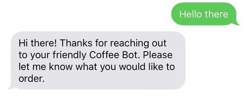 Screenshot of Autopilot welcome message