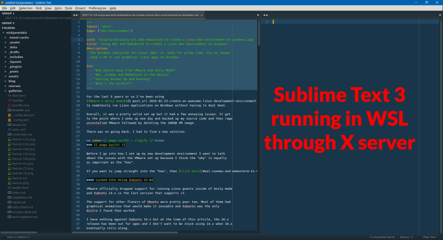 sublime-text-in-wsl
