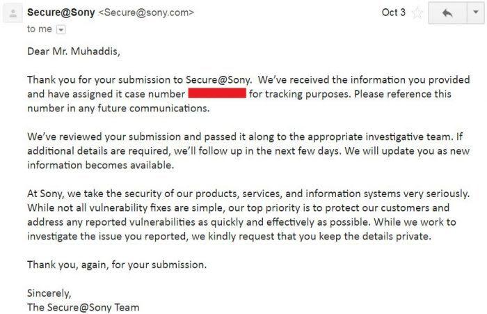 Sony Response