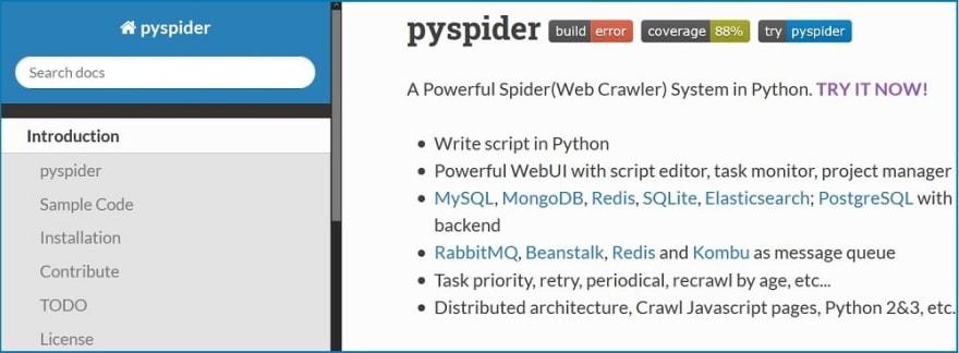 PySpider tools