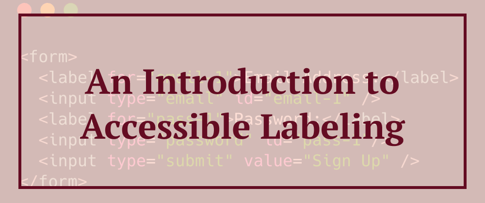 Cover image for An Introduction to Accessible Labeling