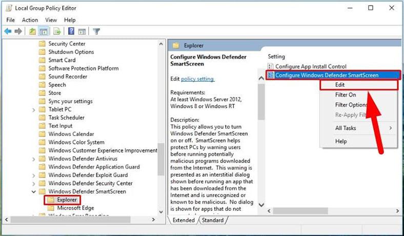 Configure Windows SmartScreen