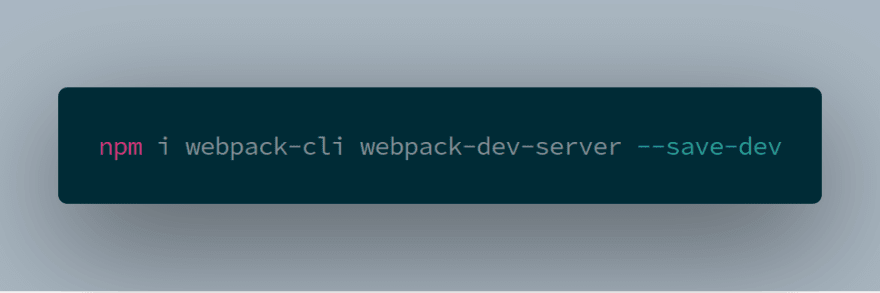 webpack dev server install