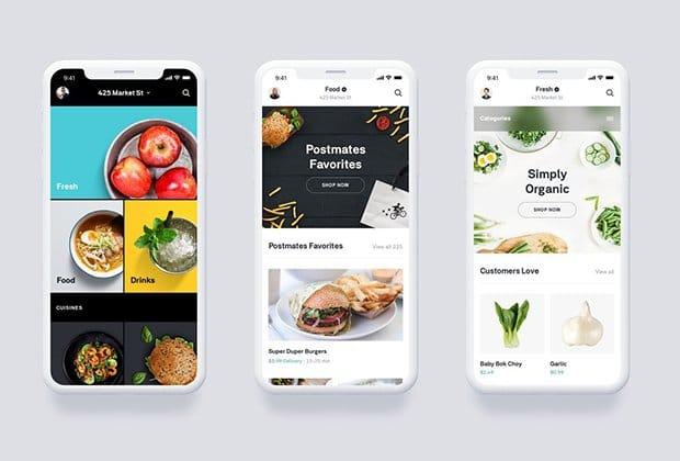 Food Ordering Apps like Postmates
