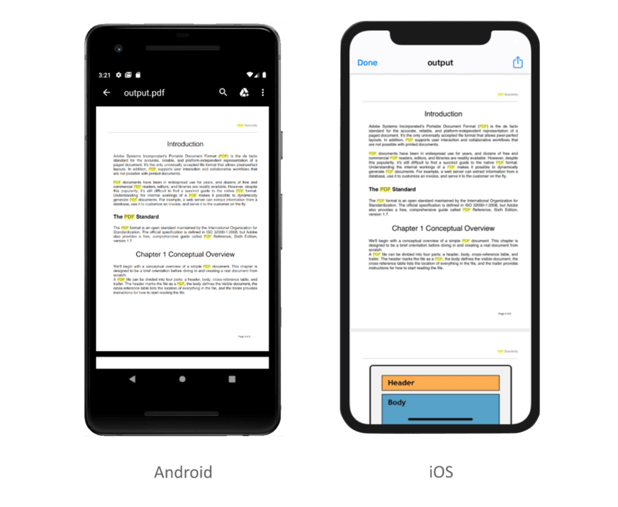 Find and highlight text in a PDF document in Flutter