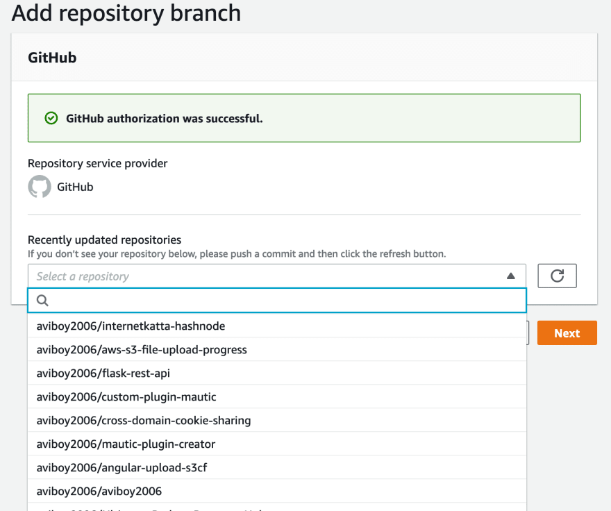 list of repositories