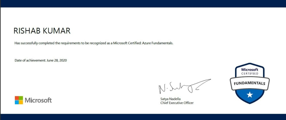 Cover image for How I passed the Azure Fundamentals with mostly free content 📑