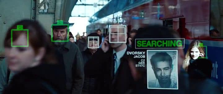 Face finding from the movie Mission Impossible: Ghost Protocol