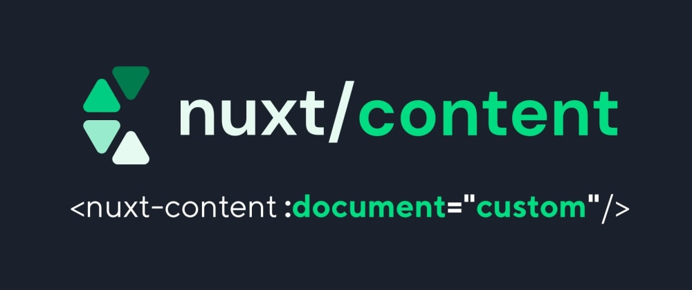 Cover image for Nuxt Content custom markdown block