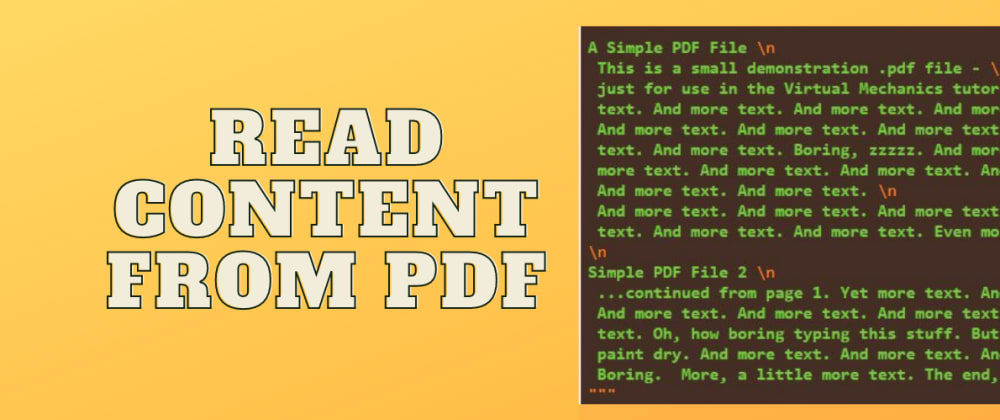 Cover image for How to read content from PDF document in Laravel 8