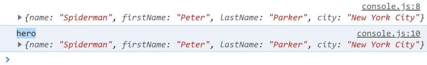 console.log() with a label