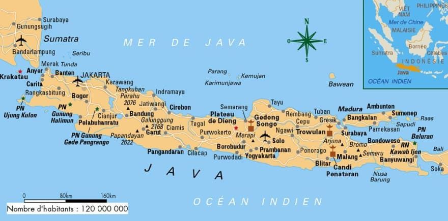 A map of Java