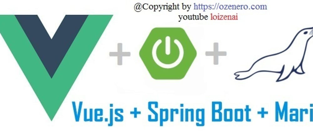 Cover image for Vue.js SpringBoot CRUD MariaDB Example