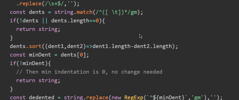 Cover image for Prettify your JavaScript strings