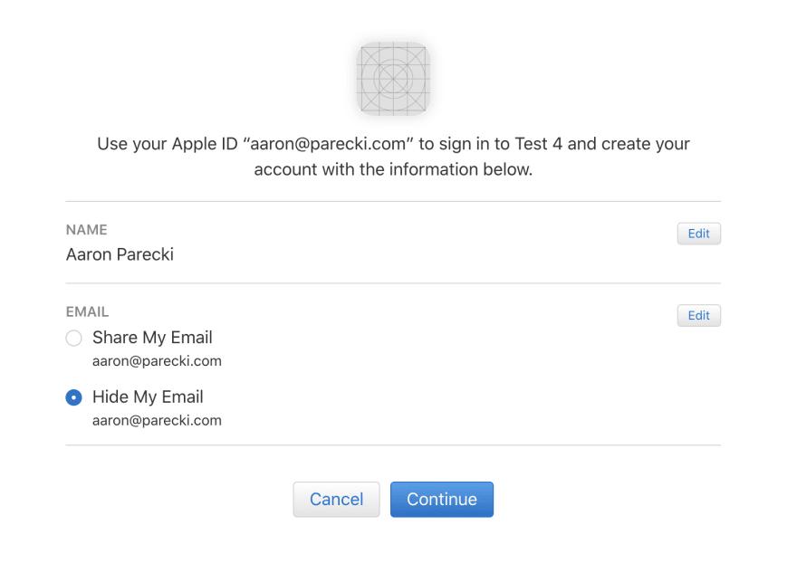 Apple Permission Screen