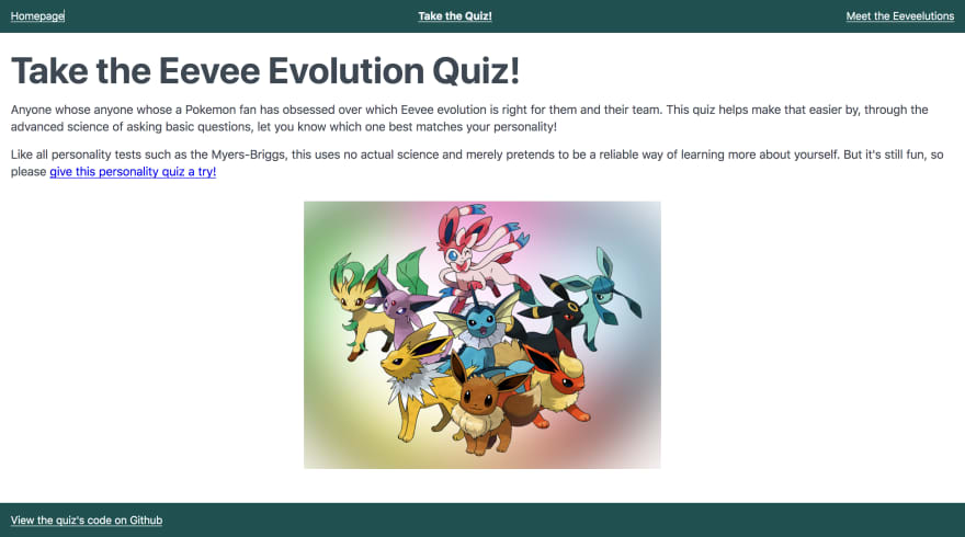 Eevees, Quizzes, and Singletons, Oh My! - DEV Community