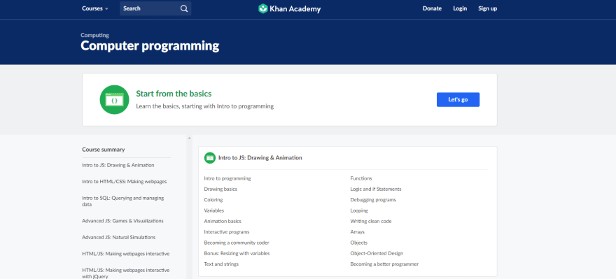 Computer programming (Khan Academy)