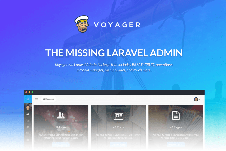 Voyager – The Missing Laravel Admin