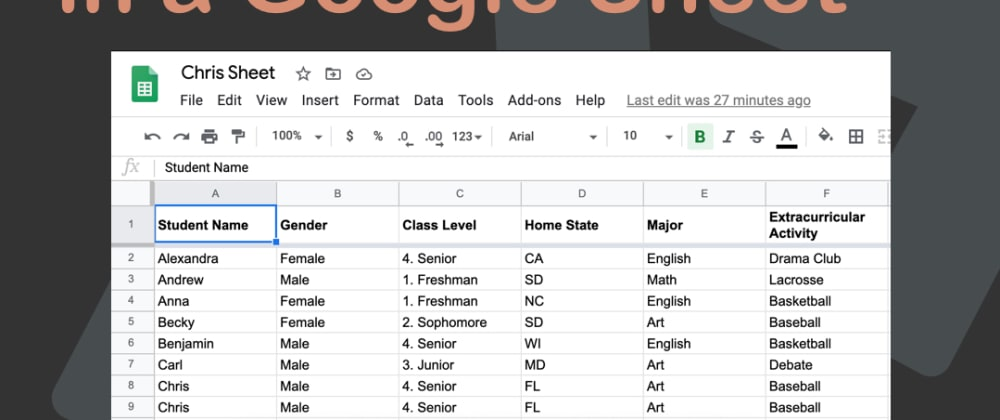 Cover image for Node.js write data in a Google Sheet