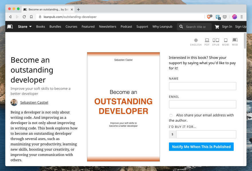 The book on LeanPub