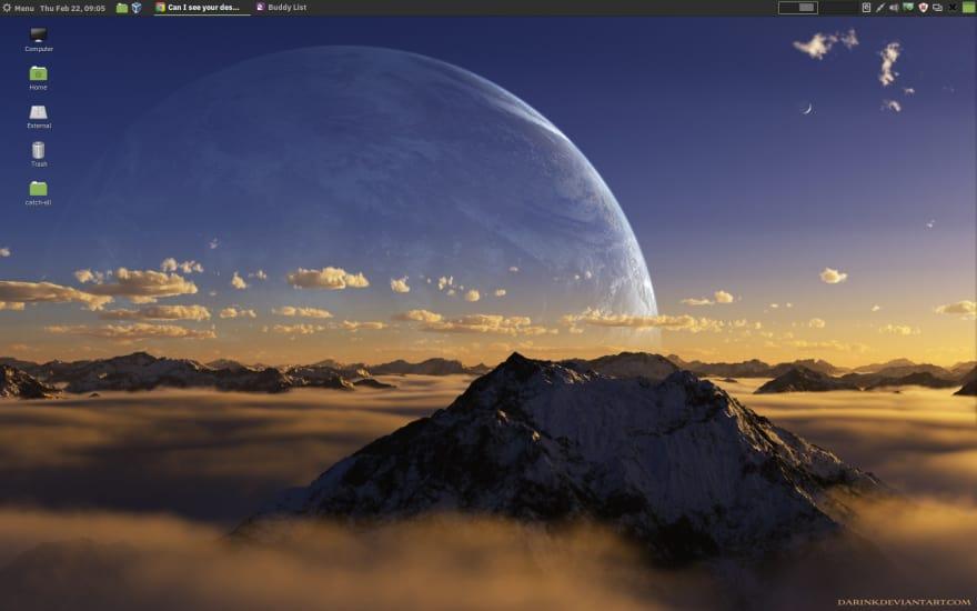 desktop at work