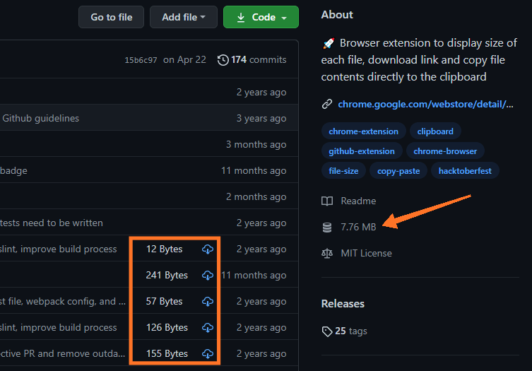 Enhanced GitHub screenshot0