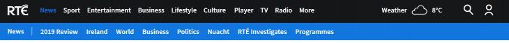 Navigation Bar on the RTE Website