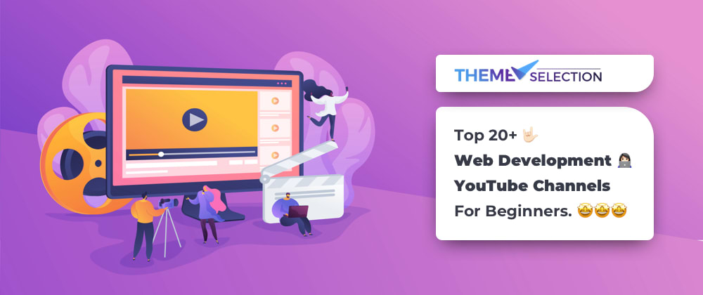 Cover image for Top 20+ Web Development YouTube Channels For Beginners.🤩