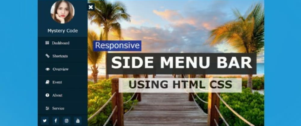 Cover Image for Sidebar Menu Using Only HTML and CSS