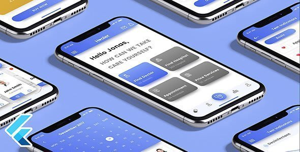 Healer – Flutter Native App<br> Template