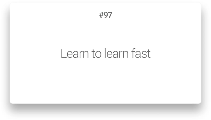 Learn to learn fast