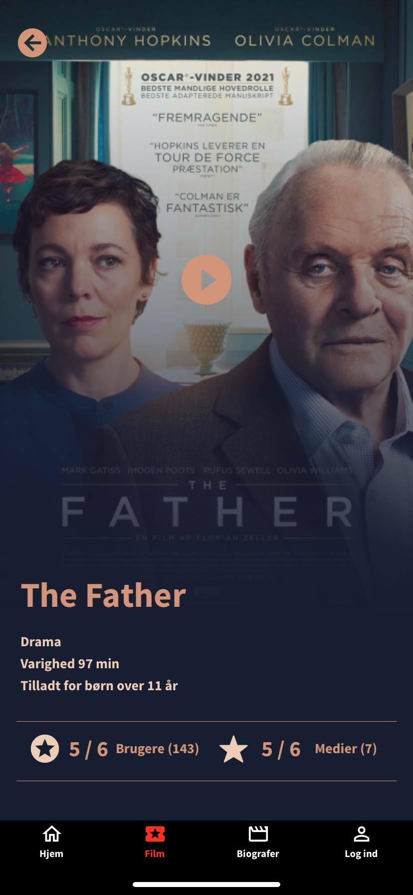 the father movie profile kino app
