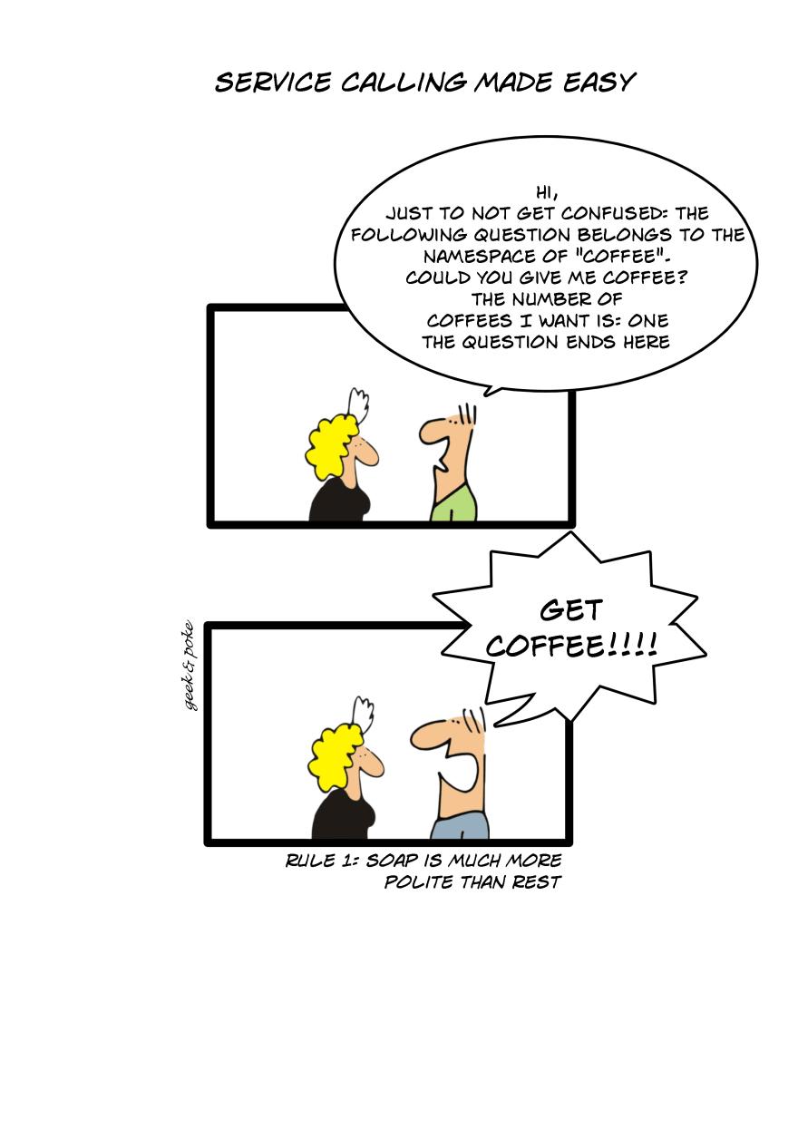 cartoon SOAP vs ReST