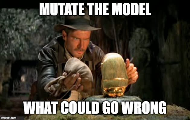 Mutate the model is a critical task
