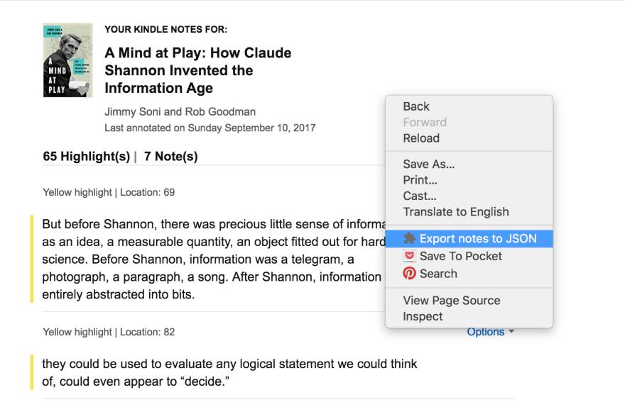 amaJSON Chrome Extension