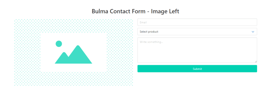 Bulma CSS - Contact Form Component.