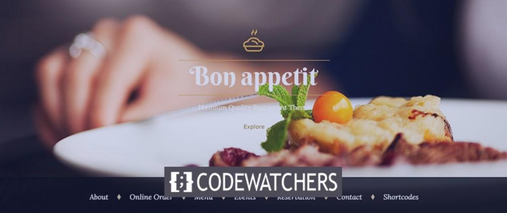 Cover image for Review: Bon Appetit - Food ordering WordPress theme for Restaurant