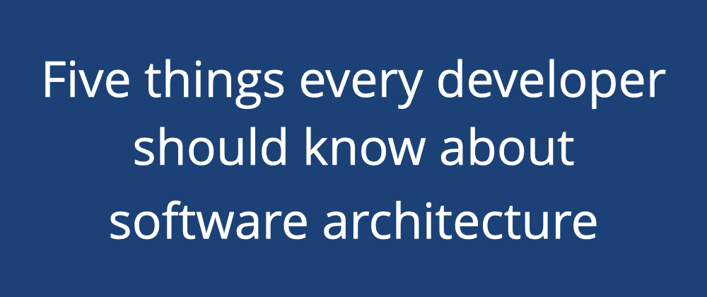 Cover image for Software architecture isn't about big design up front