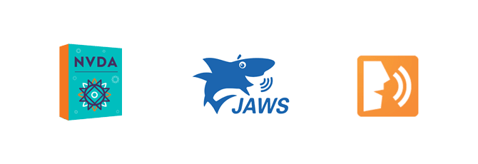 NVDA JAWS ChromeVox readers