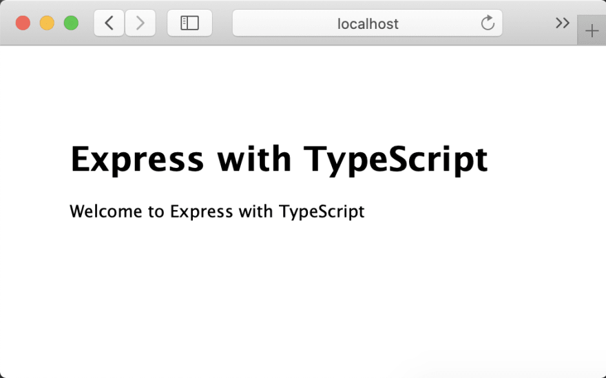 Running express compiled from TypeScript