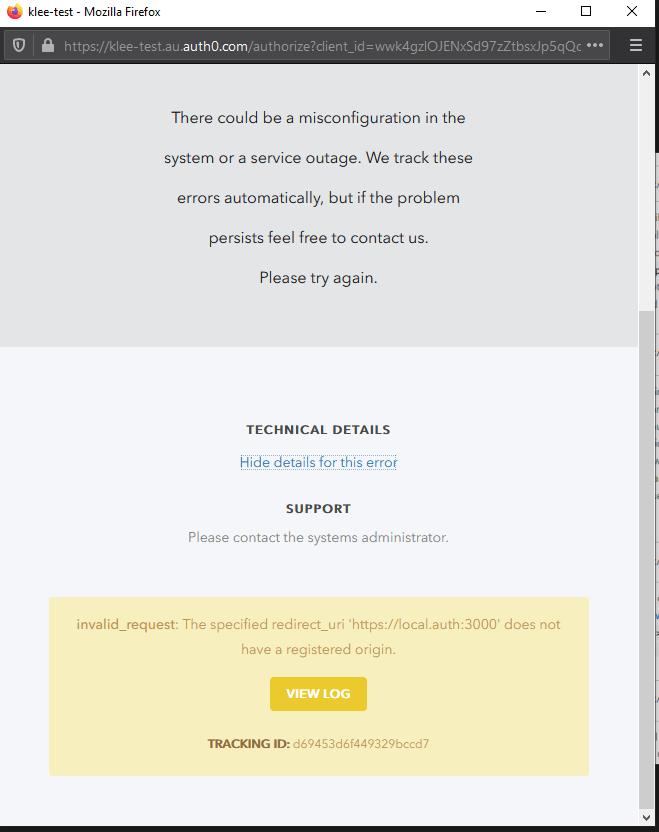 Origin now allowed error message