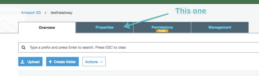 Click on properties