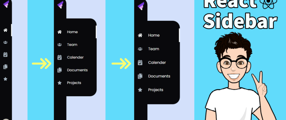 Cover image for How to create Sidebar navigation menu in ReactJS with react router and framer-motion