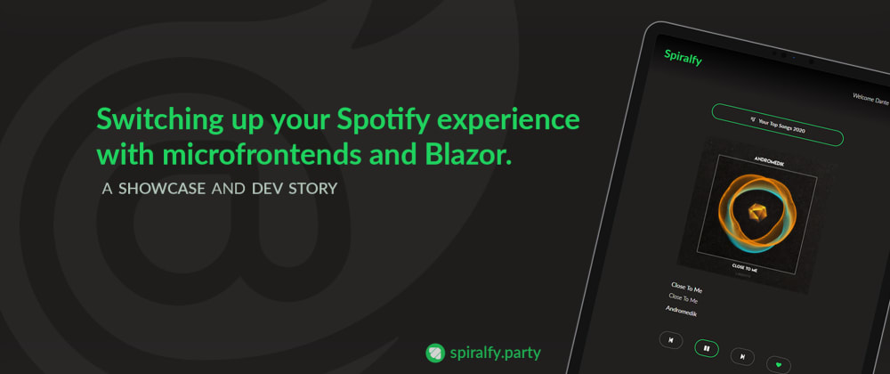 Cover image for Switching up your Spotify experience with microfrontends and Blazor