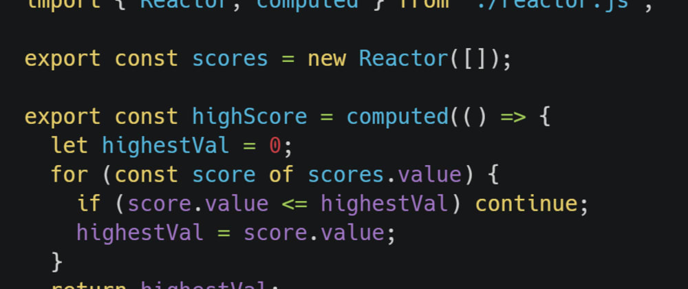Cover image for From Scratch - Reactive Values