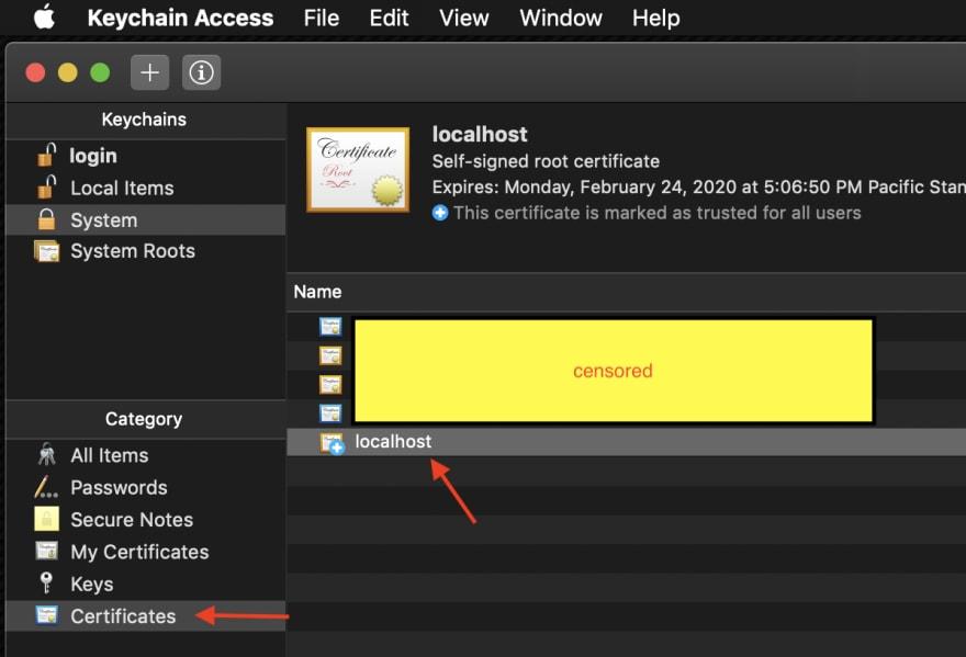 Troubleshooting  NET Core Dev Certs on MacOS - DEV Community