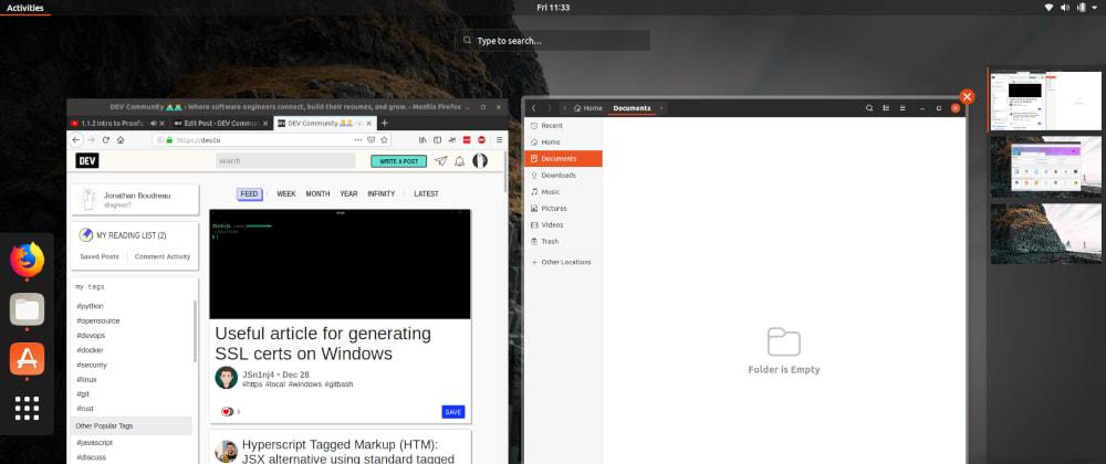 Cover image for My Ubuntu Desktop